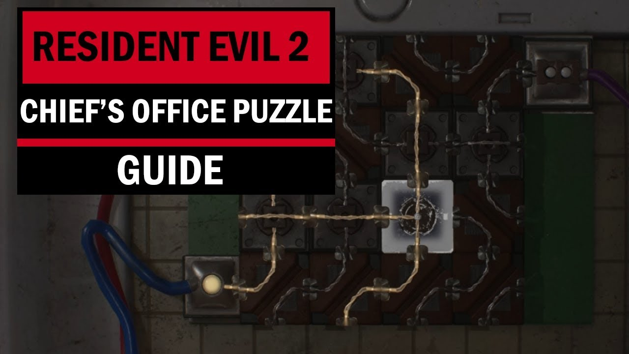 Resident Evil 2 Police Chief S Office Puzzle Solution Claire Circuit Puzzle Youtube