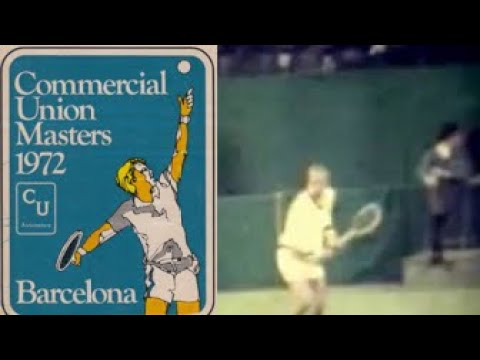 Stan Smith warming-up.Masters 1972 (Indoor)