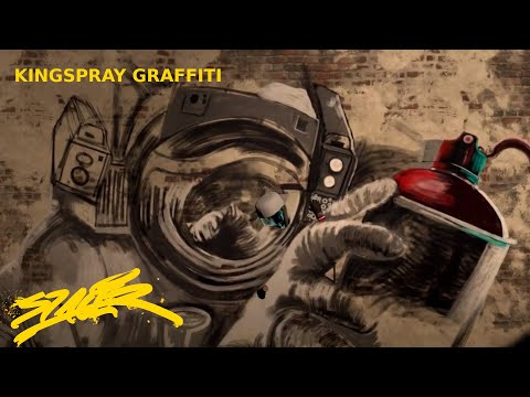 KINGSPRAY Street Art – SPACER in VR  by Shane Sutton -Speed Graffiti Painting –
