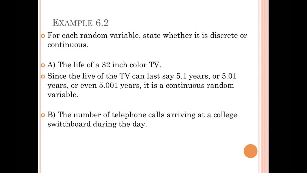 04 Discrete Vs Continuous Random Variables Youtube
