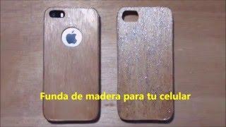 Como hacer una funda de madera para tu iphone (casera)