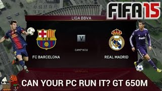 Can your PC run it? FIFA 15: GT 650M: Max Settings