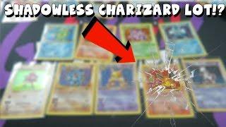 SHADOWLESS BASE SET CHARIZARD LOT!? HOLY CRAP! | GOODWILL POKEMON CARD TREASURE HUNT #10
