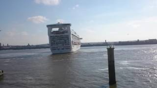 Caribbean Princess Cruise Liner in Liverpool