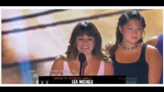 TEEN CHOICE AWARDS 2013 LEA MICHELE AND GLEE MEMBERS SPEACH, AND CORY MONTEITH TRIBUTE