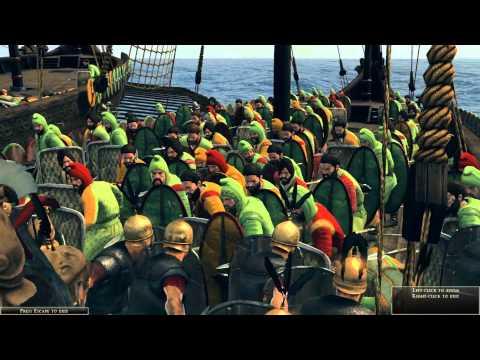Total War: Rome 2 - Massive Naval Battle | 40 Roman Ships vs 40 Nomadic Ships [1080p/Full HD]