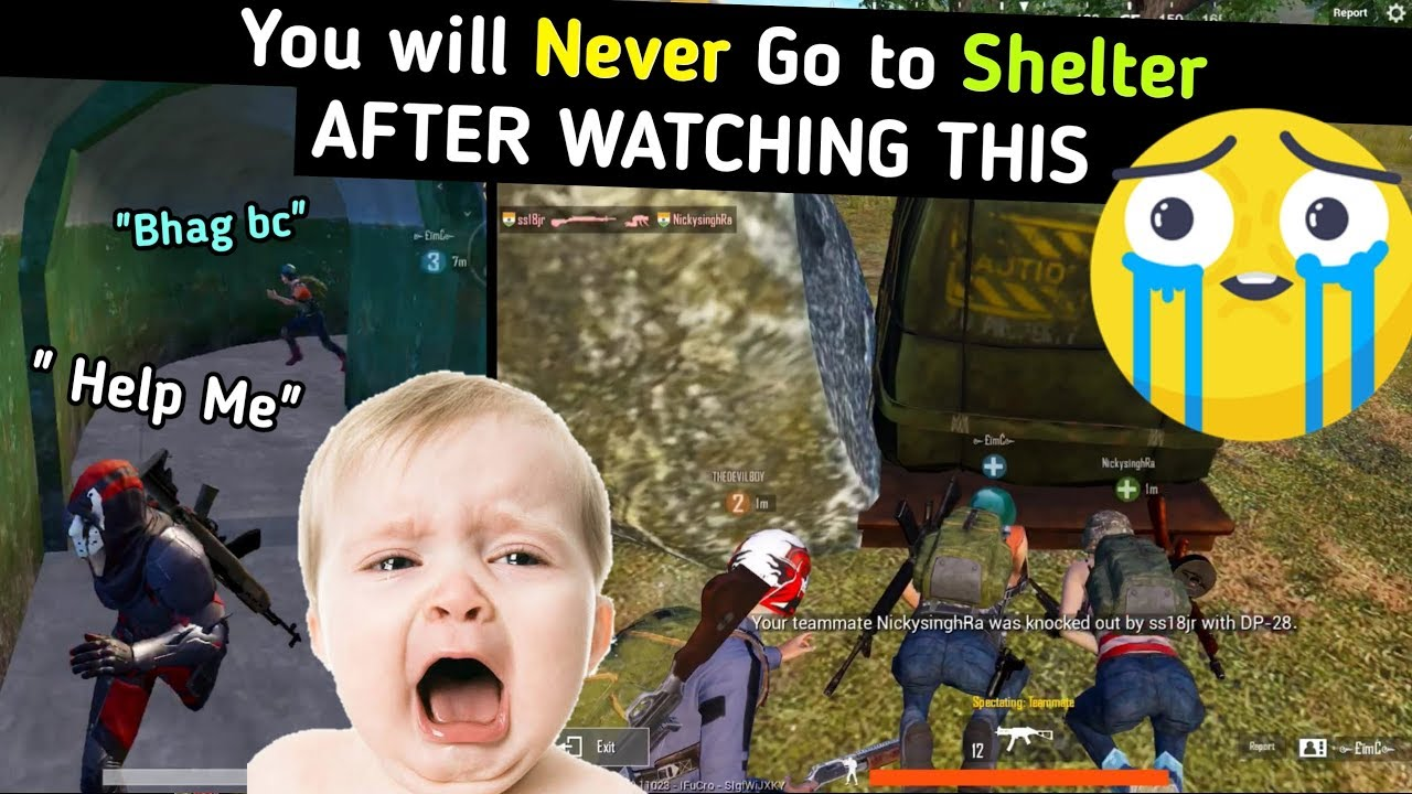 Pubg mobile you will never go to shelter after watching this video