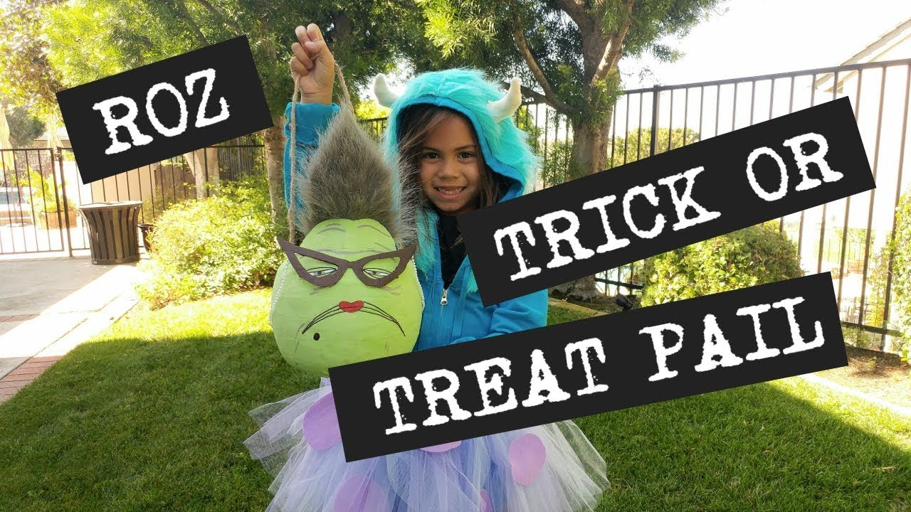 monsters inc roz trick or treat pail - youtube