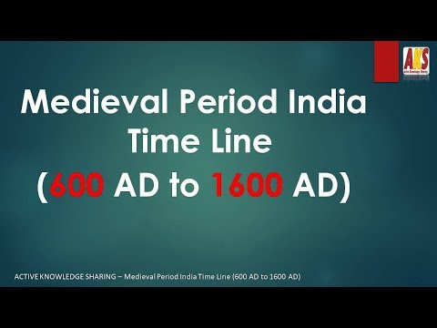 Medieval Period India Time Line  600 AD to 1600 AD
