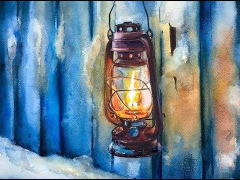 Watercolor Lantern Painting Tutorial