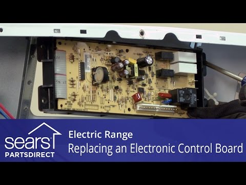 Replacing an Electronic Control Board in an Electric Range