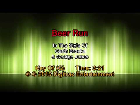 Garth Brooks & George Jones - Beer Run (Backing Track)
