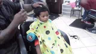 Baby first haircut