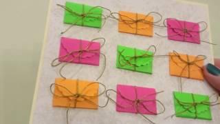 Открытка с конвертами на годовщину / скрапбукинг