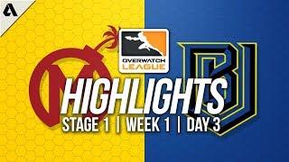 Florida Mayhem vs Boston Uprising | Overwatch League Highlights OWL Stage 1 Week 1 Day 3
