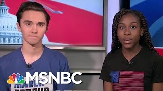 March For Our Lives Co-Founders: Universal Background Checks Are Not Enough   Craig Melvin   MSNBC