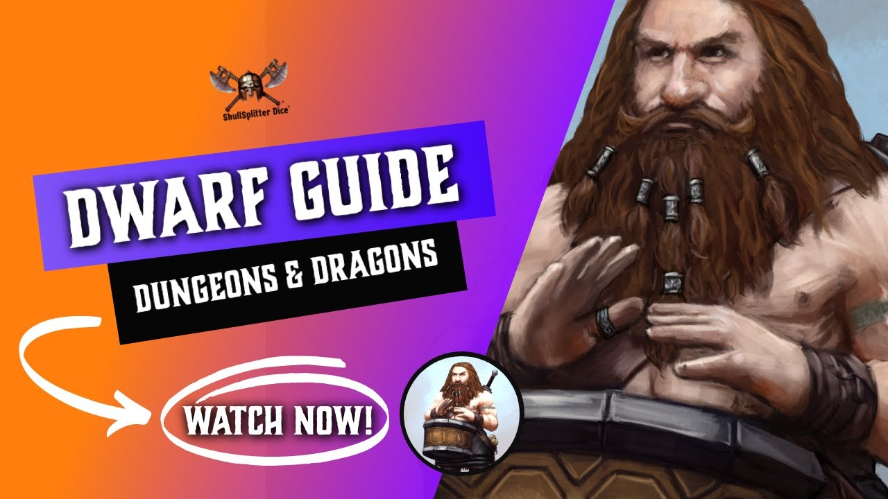 Dwarf 5e - Races for Dungeons and Dragons