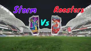 Melbourne Storm vs Sydney Roosters | Rugby NRL Live Gameplay