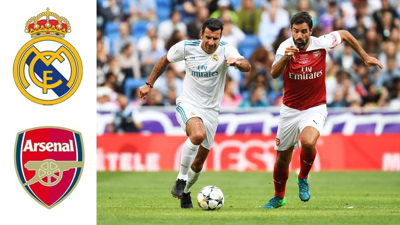 Real Madrid Legends v Arsenal Legends   Goals and ...