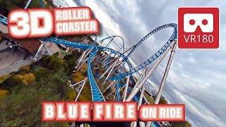 VR Roller Coaster Blue Fire VR180 3D experience | onride POV Europa-Park Achterbahn montagnes russes