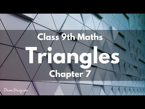 Triangles : Class 9 IX Maths CBSE