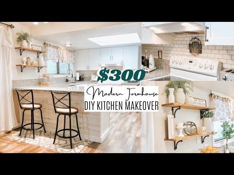 $300 DIY KITCHEN MAKEOVER | BUDGET DIY KITCHEN UPDATES