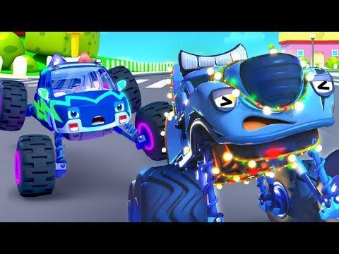 Auto De Monstruo Roba Los Faroles   Canción Infantil   Autos De Monstruos   BabyBus Español