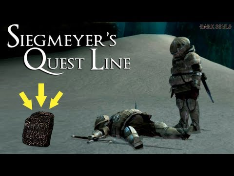 Dark Souls - How To Complete Siegmeyer Full Quest Line & Get A Titanite Slab!