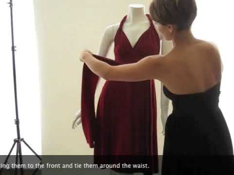 How To Wear Your Convertible Dress The Twisted Straps Youtube