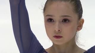 Фигурное катание Чемпионат мира 2020 среди юниоров Девушки Короткая программа Камилы Валиевой