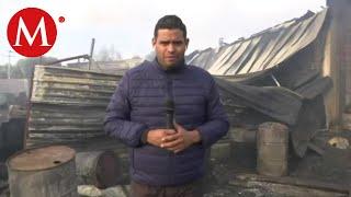 Incendio consume fábrica en Zumpango, Estado de México