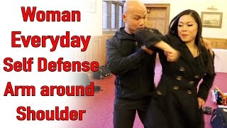 Woman Everyday Self Defence - Arm around shoulder
