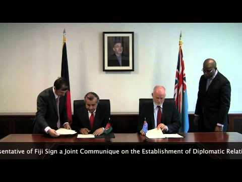 Afghanistan and Fiji Establishes Diplomatic Relation