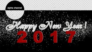 Free footage  Happy New Year 2017 text explosion