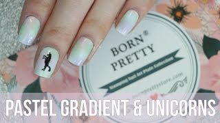 Pastel Gradients & Unicorns || Born Pretty Store Review || caramellogram
