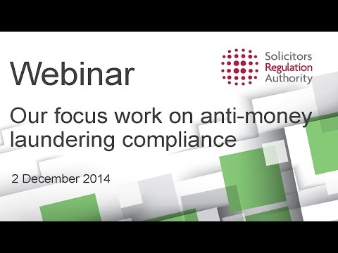 Our focus work on anti-money laundering compliance