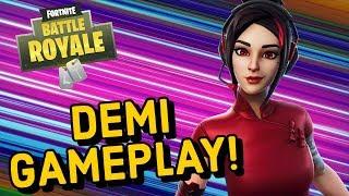 DEMI Skin Gameplay In Fortnite Battle Royale