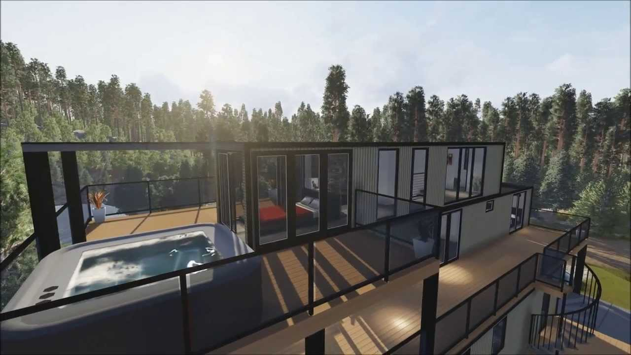 Nauta Home Designs - Contemporary Container House in Muskoka - YouTube