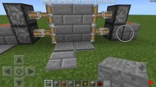 как сделать железные двери в майнкрафт