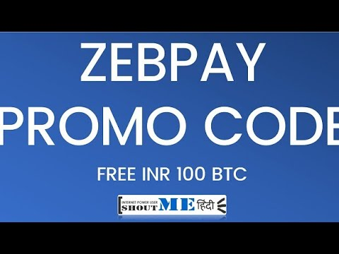 free bitcoin cod promoțional zebpay