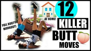 12 KILLER BUTT MOVES | BOOTY WORKOUT! NO GYM!!!