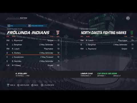 Creating The North Dakota Fighting Hawks In NHL 20