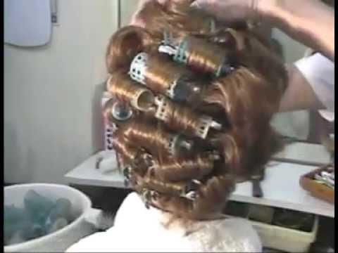 Brunette roller set 1960s hair style