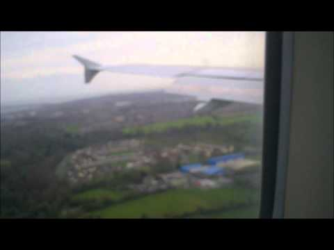 Routine Abort landing Dublin Airport from strong wind Airbus A320 November 2011.wmv
