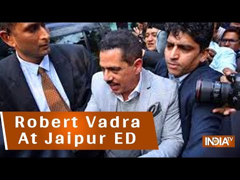 Priyanka Gandhi Drops Robert Vadra At ED Office In Jaipur, Amidst Chowkidaar Chor Hai Chants