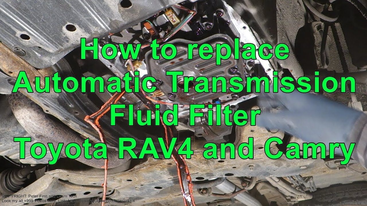 how to replace automatic transmission fluid filter toyota