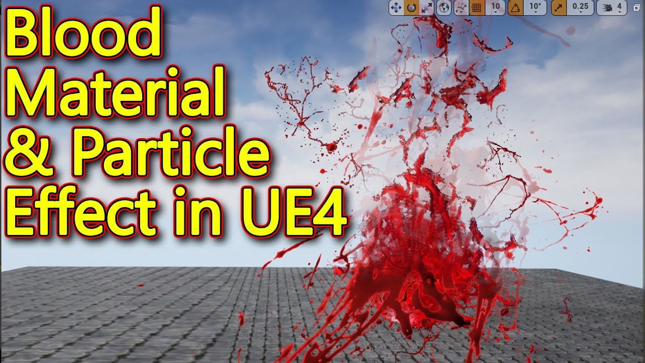 Unreal engine | Blood Material and Particle Tutorial #1