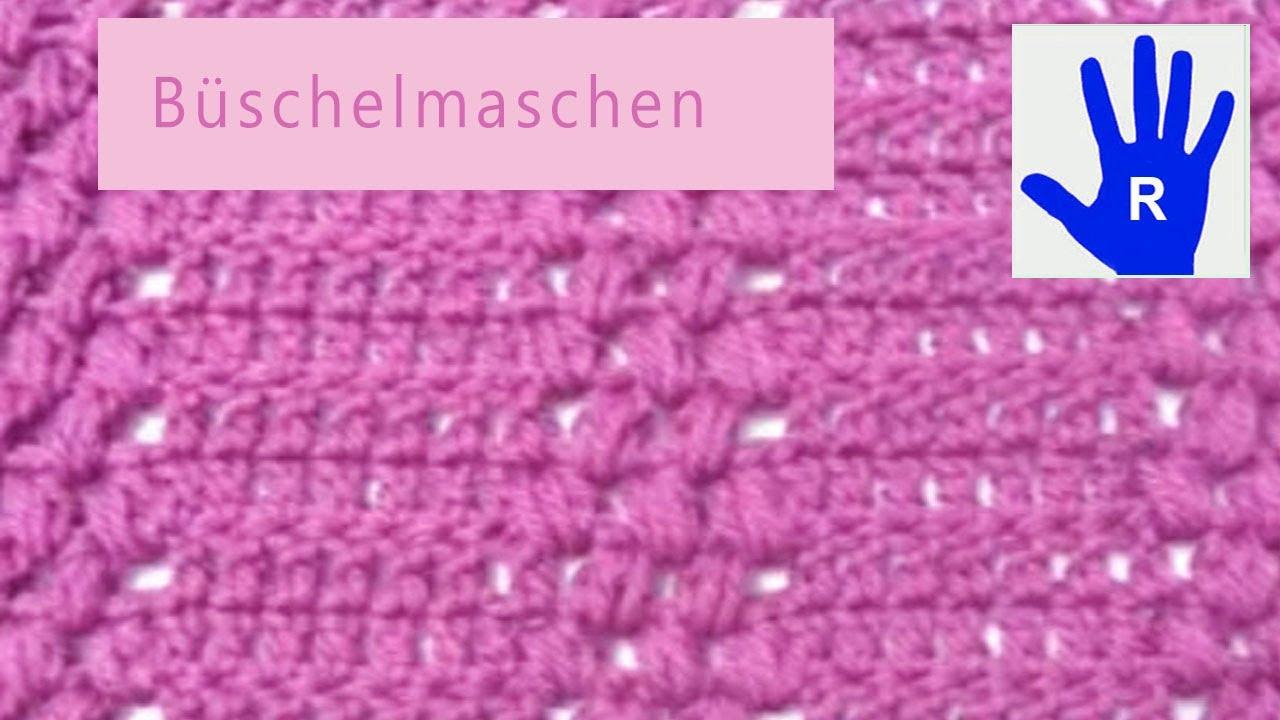 Häkeln - Büschelmaschen - Muster - Material von Debbie Bliss - YouTube