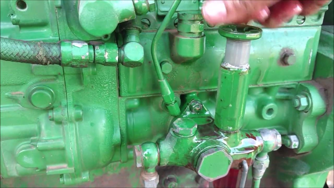 How to change John Deere 4430 fuel filters  YouTube