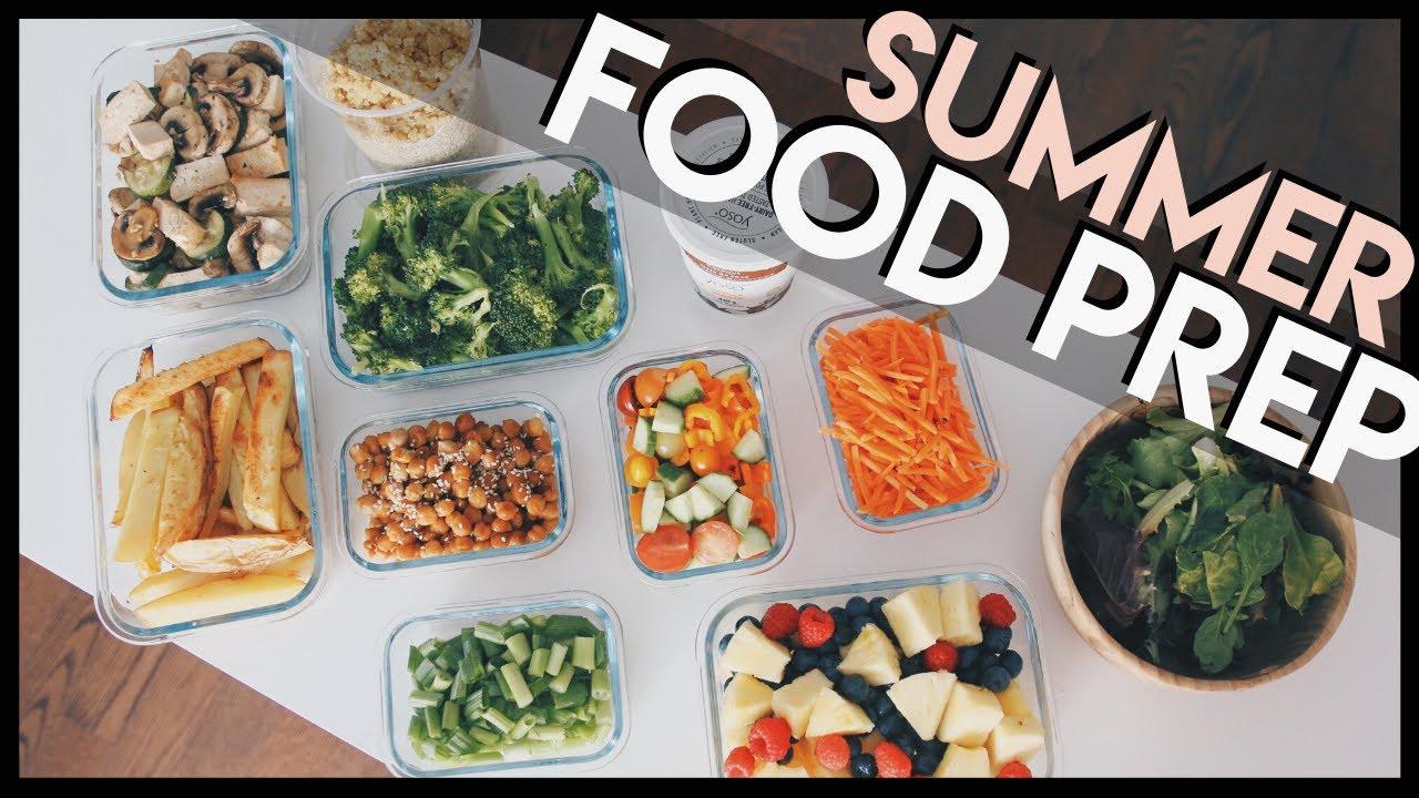 healthy summer FOOD PREP + grocery list!